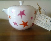 Custom Hand Painted Teapot Perfect for Valentines