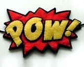 POW Comic Book Headband Roller Derby Super Hero Team Colors - TheDollCityRocker