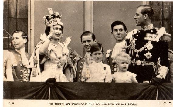 Vintage Queen Elizabeth 1950s real photograph Tuck postcard