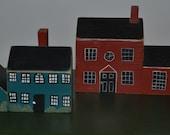 Vintage Miniature Wood Houses