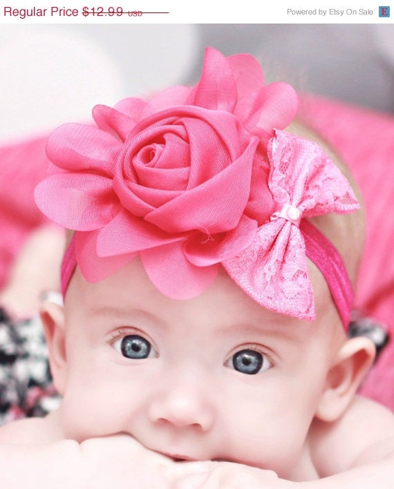 45% OFF Sale - Baby Headband - Headband - Flower Headband - Toddler Headband