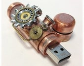 Steampunk 32GB USB Flash Drive Model 705 in a Tin Box - BasementFoundry