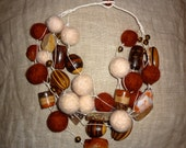 Handmade Statement multi-strand bead necklaces  (CUSTOM ORDERS) - creativedesignsstore
