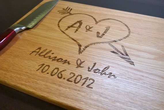Personalized Cutting Board Custom Engraved - White Oak 12x15, Wedding Gift, Anniversary Gift, Housewarming Gift