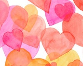 Valentines 1, original watercolor - RosoffArtworks