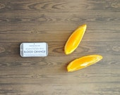 Natural Lip Balm - Blood Orange Essential Oil Citrus Summer 100% All Natural Slider Tin - ripeshop