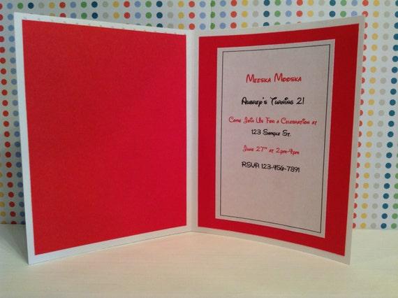 Handmade Mickey Mouse Birthday Invitations, disney invitation, Mickey Mouse clubhouse invitations, invites, Mickey invitations, set of 15