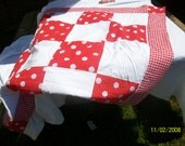 bright and beautiful picnic rug / changing mat . lightweight with cotton fibre filling so can also be used for a cot cover