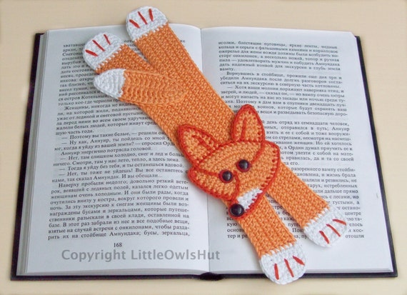 Fox Bookmark Crochet Pattern PDF file (Instant download)