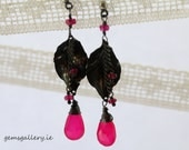 Pink Chalcedony & Sterling Silver Earrings - gemsgallery