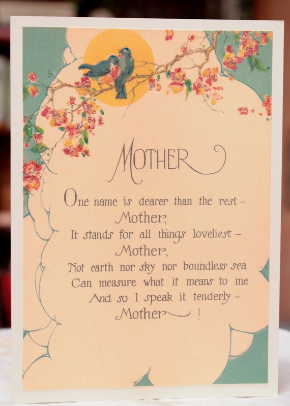 Mother's Day Motto Card