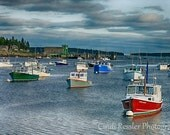 Fishing Boats 2, 5x7 Fine Art Photography, Landscape Photography - CindiRessler