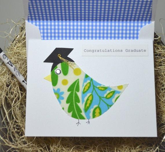 Graduation Card / Congratulations Graduate / Bird Congratulations Card