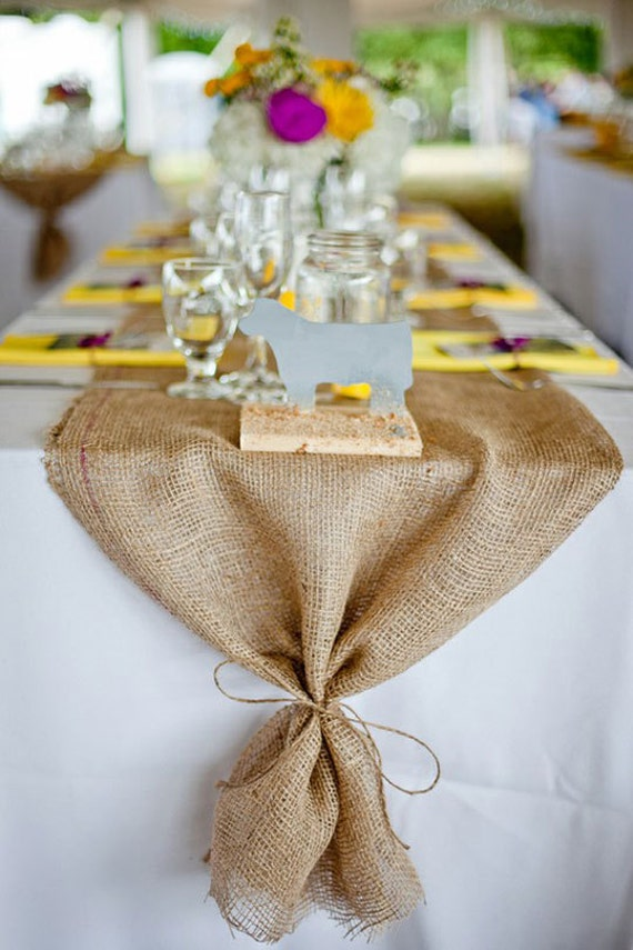 Burlap Table Runner: Wedding, Special Occasions, Custom Sizes Available