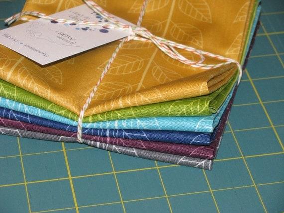 Simply Color - Leafy Stripe 6 Half Yard Bundle