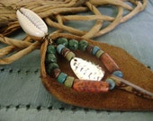 Frileze- Leather and Cowrie Shell Earring - Made To Order