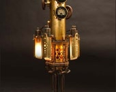 Mystarium Table Lamp: a hand-made steampunk styled light - JWKinseysArtifice