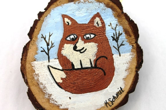 Fox in the Snow - Woodland Painting