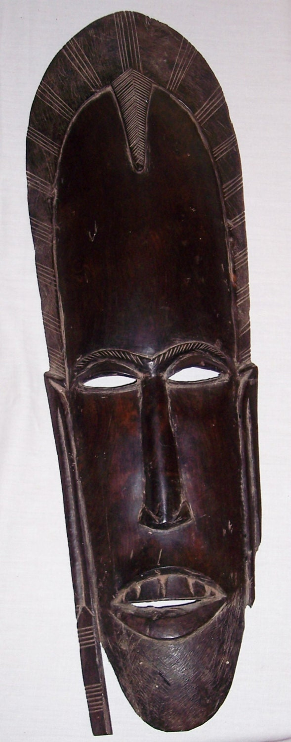 African Masks African Tribal Art Carved Ebony Mask