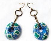 Turquoise earrings, Exotic earrings, Ethno Gypsy Turquoise Mediterranean Earrings, Summer trends, Gift ideas for her, Last minute gift