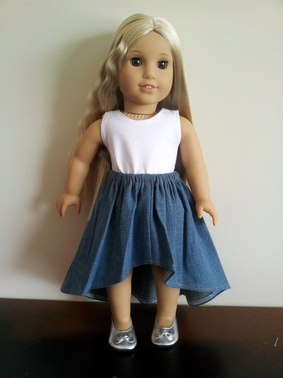 Hi-Low skirt for American Girl and all other 18 inch dolls