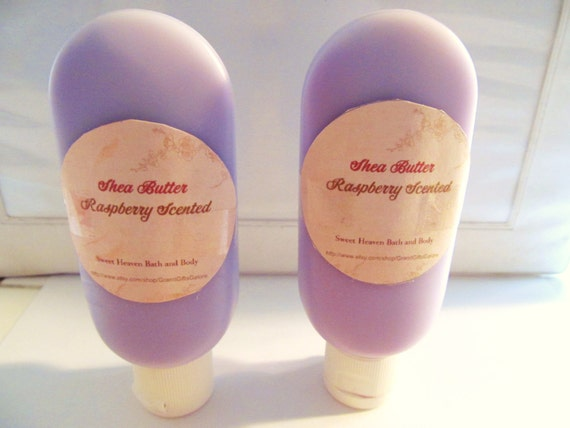 Shea Butter Raspberry Scented Lotion Set of 2
