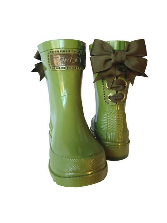 Timber & Tamber Rain Boots Rubber Gumboots Green