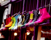 A4 print, Doc Martins, pinks, green, yellow, blue, colourful, street photography, County Durham - AdeleCarne