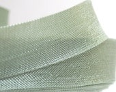 Rayon Seam Binding Ribbon - 10 yards - 14 mm - 100% rayon -light green  - aloe color - BcHands