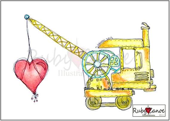 Heart of the Steam Machine Giclee Print 8x10