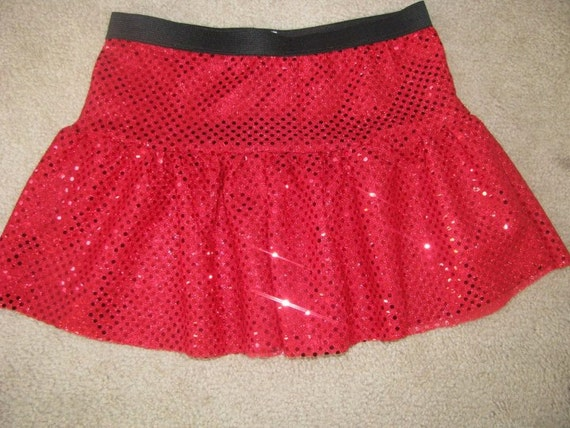 Misses Tiered Sparkle Running Skirt