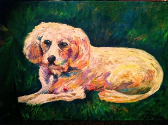 宠物肖像 水彩画