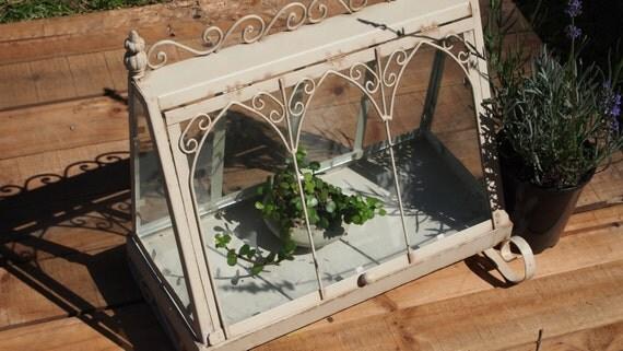 Shabby Chic Victorian Garden terrarium cloche