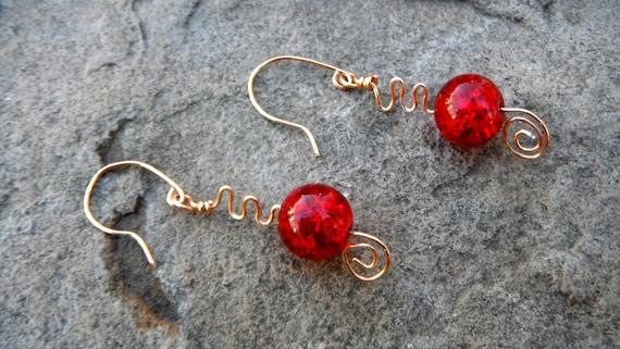 caravanofbeads red earrings on etsy
