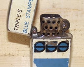 Vintage 1950s Triple S Blue Stamps Lighter
