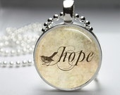 Hope Necklace Glass Bezel Art Photo Pendant - jennspendants