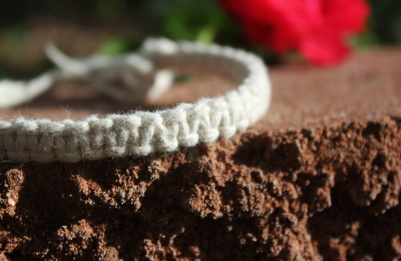 Adjustable Woven Hemp Bracelets or Anklets