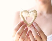 Wedding corsage, mother of the bride, heart brooch, rustic chic - whichgoose