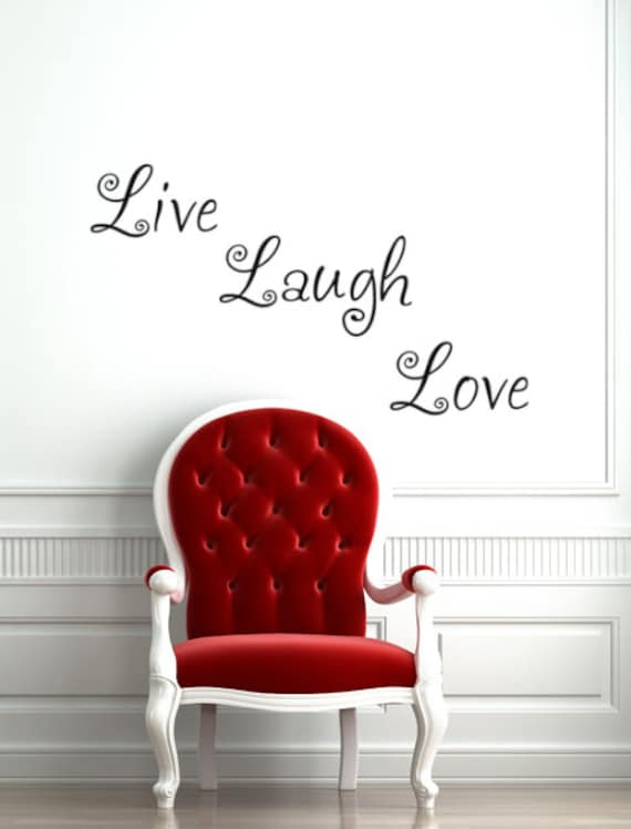 Live Laugh Love vinyl decal words for walls by HouseHoldWords