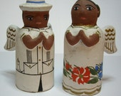 Mexican Folk Art Pottery Angels