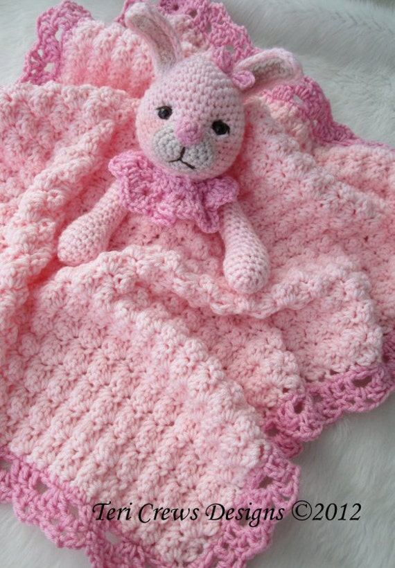 Bunny Huggy Blanket Crochet Pattern by Teri Crews Wool and Whims, PDF Format