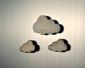 wooden cloud magnet set. - bellehibou