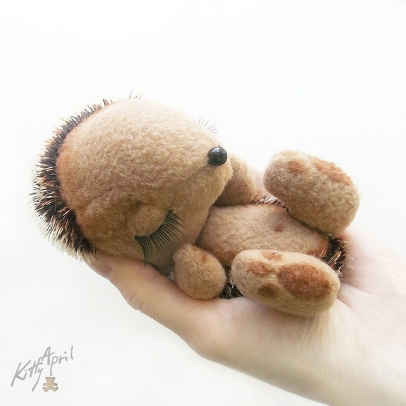 Hedgehog Miniature Woodland Sleepy Friend - Made to Order 5 inch