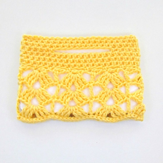 Handmade Crochet Lace iPad Mini Sleeve Made With Reycled Plastic Bottles and Charity Tree Donation in Lemon, Mint, or Blush