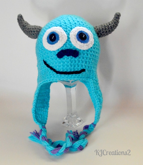 Monster Hat-newborn to adult-made to order