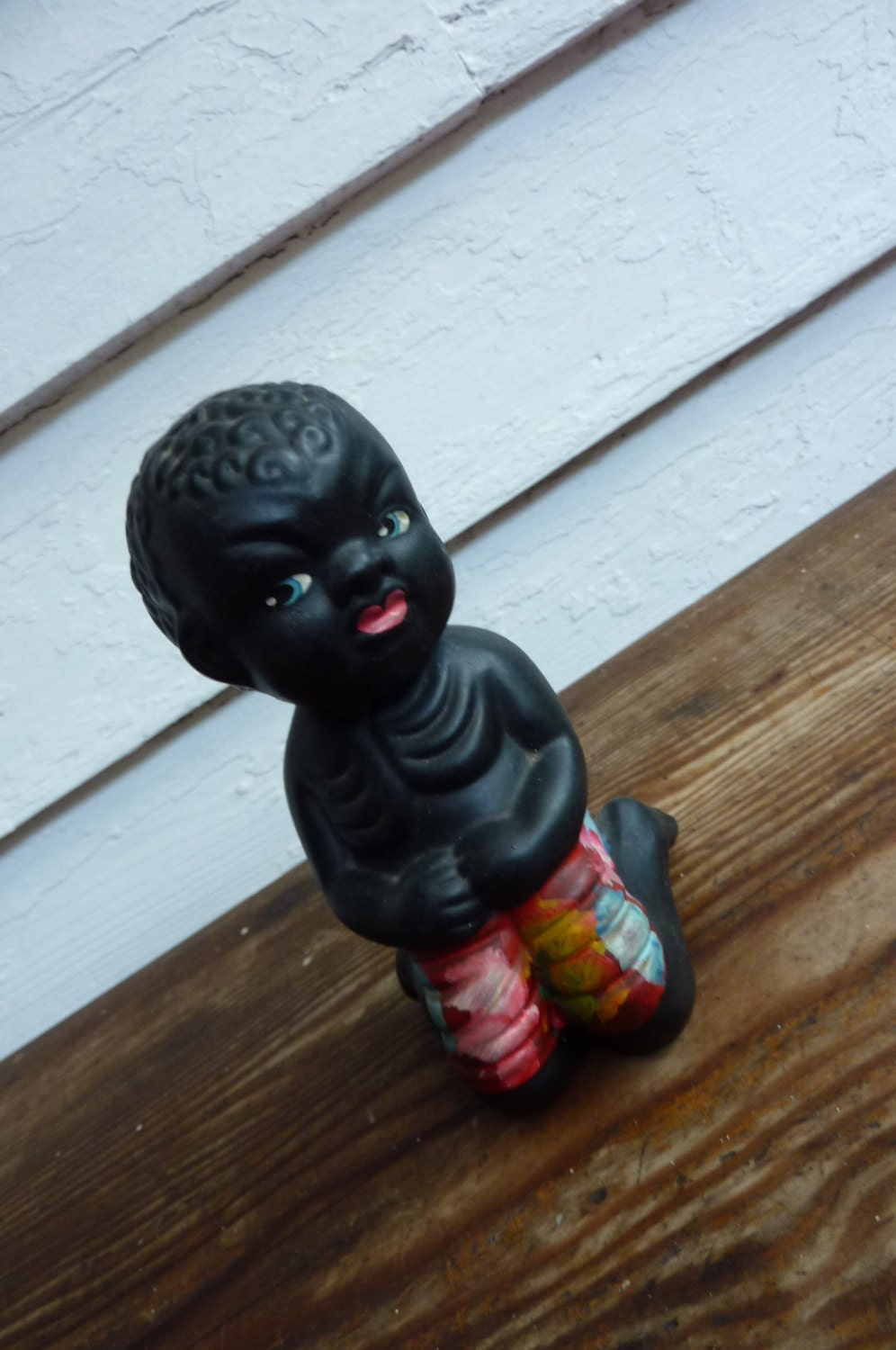 1950's Kitsch African American Bobble Head by pinkneonvintage
