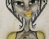 African Art on Wood ---Setting You Free