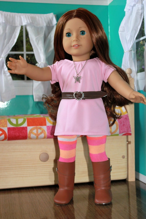 American Girl Clothing - FREE SHIPPING - Dress, Leggings, Belt, and Necklace.
