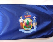 Blue Flag State of Maine Large Maine State Flag Memorial Day, Flag Day, 4th of July - injoytreasures