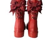 Timber & Tamber Rain Boots Rubber Gumboots Burgundy - TimberAndTamberBoots